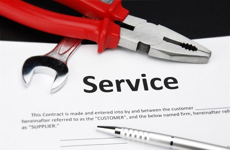 Service contract Copier